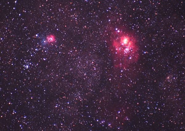 trifid and lagoon nebula - photo #12